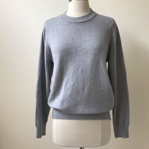 ASOS Embroidered Cat Sleeve Grey Sweater